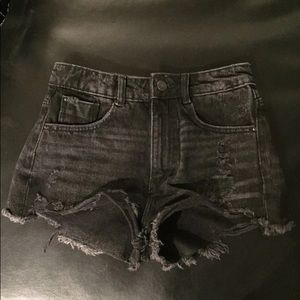 Zara Trafaluc Black Denim Shorts